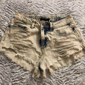 Acid Wash Forever21 Shorts